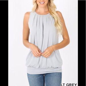 NWT Plus Lt Grey Top